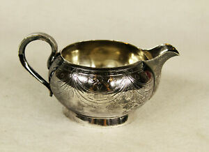 Antique Russian 84 Silver Creamer Souce Boat Gravy Boat Moscow 1986