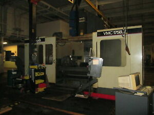 Monarch Vmc 175b 84 5 x 30 table 3 axis Cnc Vert Machining Center W bad Control