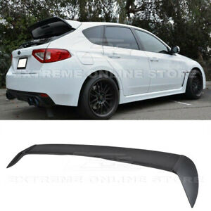 For 08 14 Subaru Impreza Wrx Sti Hatch Rear Spoiler Add On Wing Wagon Body Kit