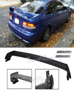 For 96 00 Honda Civic Mugen Stylespoiler Trunk Wing 2dr Coupe W Black Emblems