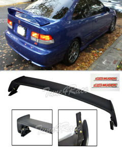 For 96 00 Honda Civic Mugen Stylespoiler Trunk Wing 2dr Coupe W Red Emblems