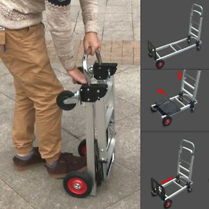 2 In 1 Aluminum Hand Truck Dolly 200kg Utility Cart Folding Multifunction