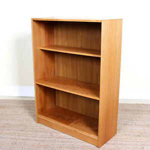 Vintage Danish Open Bookcase Light Oak Bookshelves Adjustable Shelving