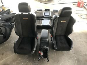 2017 11 17 Charger Leather W Suede Front Seats rear Seats console Door Panels