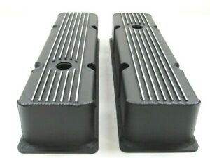 Chevy 327 350 Tall Aluminum Finned Fabricated Valve Cover Black Coat Bpe 2309bc
