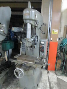 Moore Tools No 2 10 x 19 table 0 2500 Rpm Spindle 2hp Jig Bore W acu rite D r o