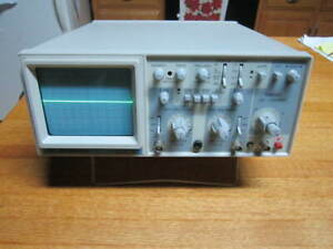 Bk Precision 2120 2 channel 20 Mhz Analog Oscilloscope W power Cord Free Ship