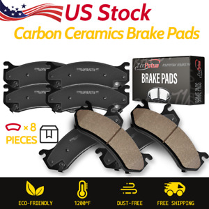 Front Rear Ceramic Brake Pads For 2005 2006 2007 2009 2010 2012 Nissan Murano