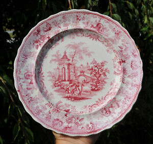 Antique Staffordshire Transferware Pearlware Plate Dillon Asiatic Views Camels