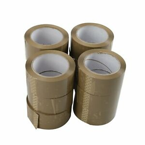 72 Rolls 2 x110 Yards 330 Ft 2 Mil Brown Carton Packing Package Tape Shipping