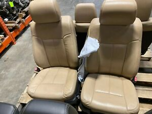 11 12 13 14 15 16 Ford F250 F350 Front Rear Tan Leather Seats Heated Cooled