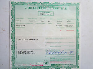1963 Imperial Barn Find Historical Document