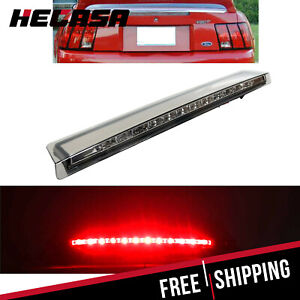 Fit 99 04 Ford Mustang Rear Smoke Led Third 3rd Brake Light Trunk Stop Lamp