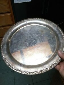 Leonard Silver Plated Serving Tray