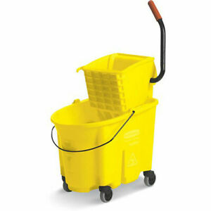 Rubbermaid Wavebrake Mop Bucket wringer System 35 quart Capacity Side