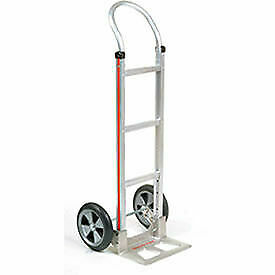 Magliner Aluminum Hand Truck With Curved Handle Balloon Wheels