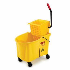 Rubbermaid Wavebrake 174 Mop Bucket Wringer Combo