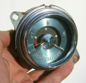 55 1955 Buick Or Boat Marine Blue Face Vintage Water Temperature Gauge