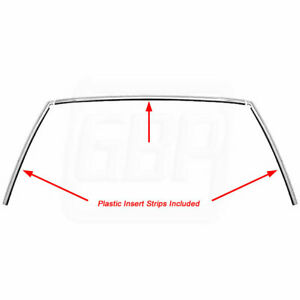78 88 Ag Front Windshield Anodized Reveal Trim Molding Withplastic Inserts 3pcs Fits 1979 Chevrolet Monte Carlo
