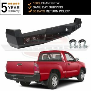 For 05 15 Toyota Tacoma Steel Rear Bumper Protector Led Lights Steel Pickup