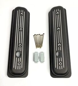 Center Bolt Valve Covers For Sbc 305 5 0l 350 5 7l Black Ball Milled
