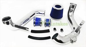Blue 2pc Cold Air Intake Kit Filter For 2012 2014 Honda Civic Ex lx dx 1 8l
