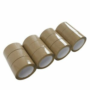 72 Rolls 2 Inch X 110 Yards Packing Sealing Shipping Package Brown Tape 2 mil