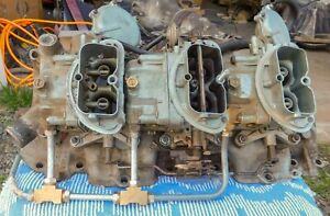 1968 69 Winters Corvette Tripower Intake Carburetors And Air Breather