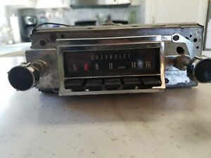 Vintage 1960 S Chevrolet Am Delco Radio
