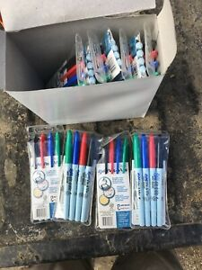Lot 48 12 Packs Of Sanford Expo Vis A Vis 4 Per Fine Point Wet Erase Markers New