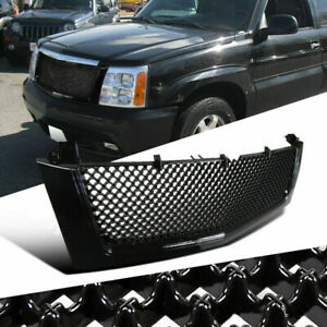 Front Mesh Hood Grill Grille For 2002 2006 Cadillac Escalade Est Esv Black