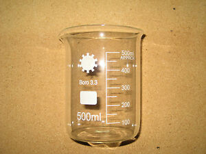 Borosilicate Glass Beakers 500ml Pack Of 10