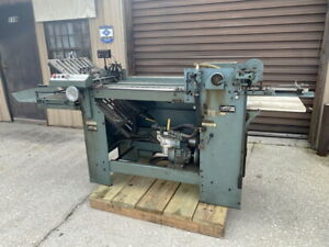 Baumfolder Baum Pony 18 X 22 Pile Feed Air Feed Paper Folder Mbo Stahl