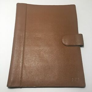 Levenger Circa Softolio Brown Leather Portfolio Letter Size Tablet Note Cover