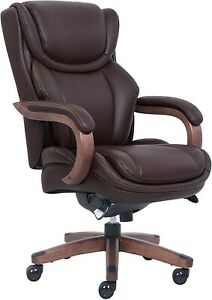 La z boy Bellamy Executive Bonded Leather Office Chair Coffee brown