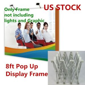 Usa Stock 8ft Straight Tension Fabric Pop Up Display Backdrop Trade Show Frame