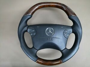 Steering Wheel Mercedes Benz W208 W210 Ml Wood Walnut Leather Custom Design