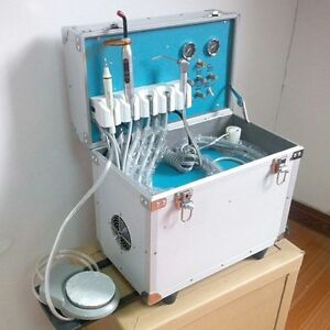 Dental Portable Delivery Unit Case 580w With Led Curing Light And Scaler K98led
