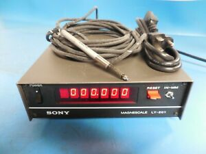 Sony Ly 201 Magnescale Benchtop Digital Readout Display W Probe