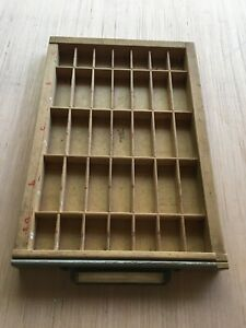Vintage Printer s Letterpress Kwikprint Type Sorting Tray Box Cabinet Drawer