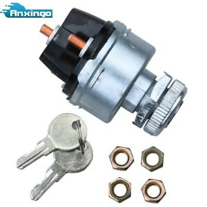 12v Universal Ignition Switch 4 Position On Off Start Acc W 2 Gm Style Keys