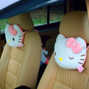 Hello Kitty Car Lovely Cat Seat Head Neck Rest Cushion Pillow Pad Headrest