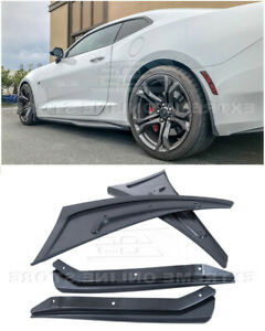 Front Rear Splash Mud Flaps Fits 16 Up Camaro Texture Black Gm Extended Guards