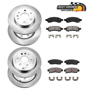 Front rear Rotors Ceramic Pads For Buick Enclave Chevy Traverse Acadia Outlook