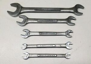 5pc Vintage Craftsman V Series Usa Metric Double Open End Wrench Lot 6 19mm