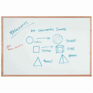 Aarco Display Style White Marker Board White 36 X 24