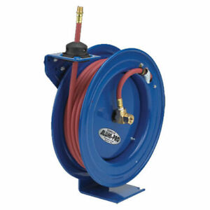 Spring Rewind Reel For Air water No Hose 1 4 I d 25 Capacity 300 Psi