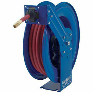 Heavy Duty Spring Rewind Hose Reel For Air water 3 8 X 100 300 Psi