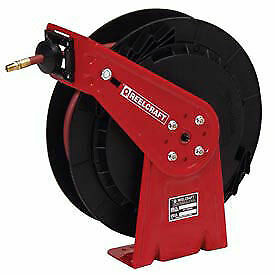 Medium Duty Spring Driven Industrial Reel Air water With Hose 1 4 X 65ft 300