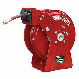 Dual Pedestal Reel Air water With Hose 1 4 X 50ft 300 Psi 35 Lbs